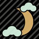 moon, night, crescent, travel