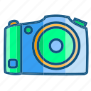 camera, film, flat camera, photo, shoot, travel icon