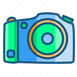 camera, film, flat camera, photo, shoot, travel icon