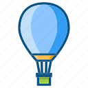 air balloon, fly, holiday, summer, travel icon
