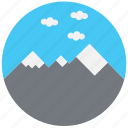 mountain, nature, sky, travel, traveling icon