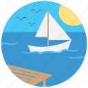 boat, nature, river, sea, ship, travel, traveling icon