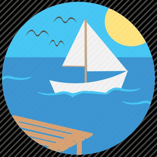 boat, nature, river, sea, ship, travel, traveling icon
