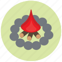 camping, fire, travel, traveling icon