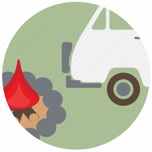camping, car, fire, travel, traveling, van icon