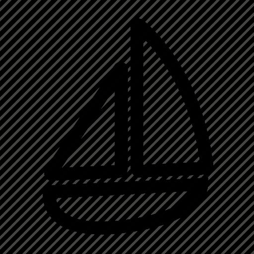 boat, sail, tourism, travel icon
