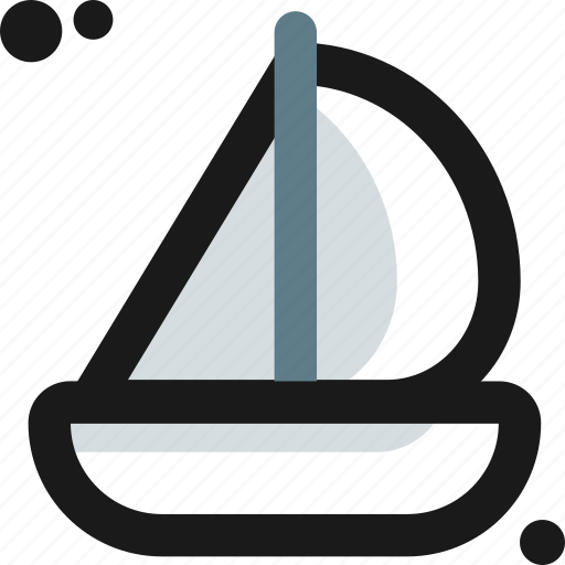 barge, boat, canoe, sail, sea, ship, travel icon