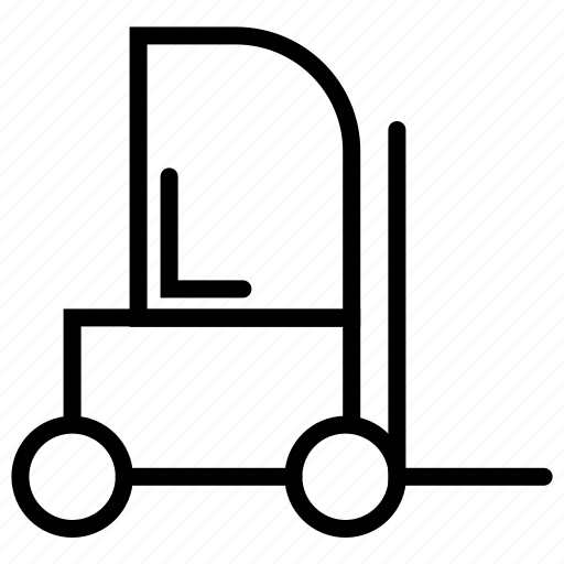 forklift, lifter, lifter truck, service, transport, vehicle icon