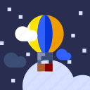 baloon, holiday, tourism, transport, travel, vacation icon