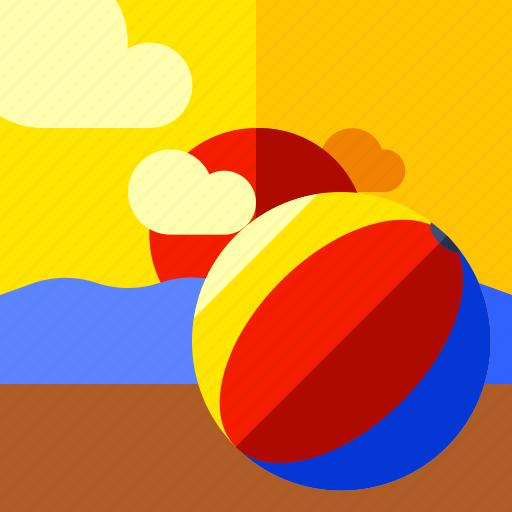 beachball, holiday, travel, vacation icon