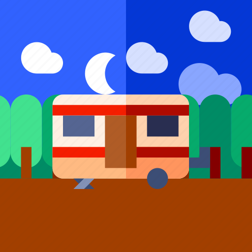 caravan, tourism, travel, vacation icon