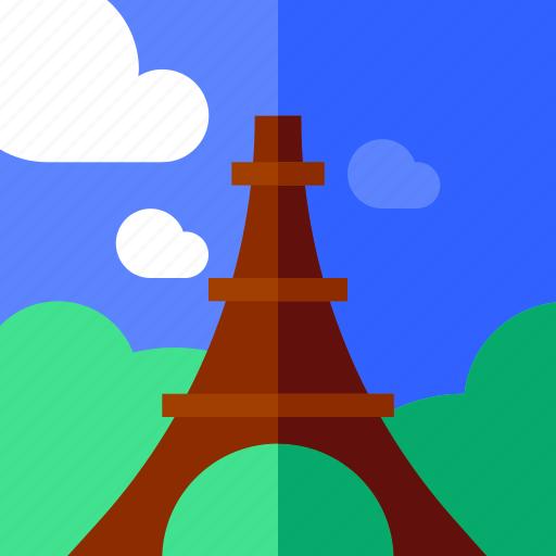 eifel, holiday, tourism, travel, vacation icon