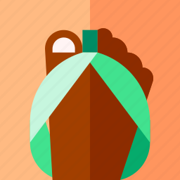 flipflop, hotel, tourism, travel, vacation icon