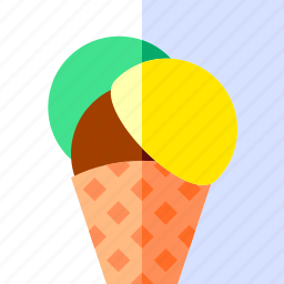 cone, cream, dessert, food, ice, sweet, travel icon