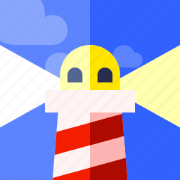 beach, lighthouse, tourism, travel, vacation icon