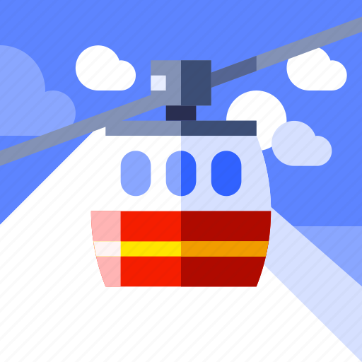 ropeway, tourism, transport, travel, trip, vacation, vehicle icon