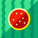 beach, tourism, travel, vacation, watermelon icon