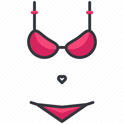 bikini, holiday, travel, underwear icon