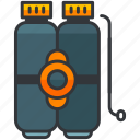 dive, diving, holiday, sports, tank, travel, water icon