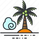 holiday, island, palm, travel, tree, tropial icon