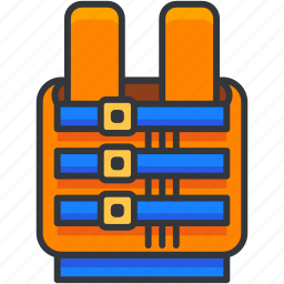 holiday, life, safety, travel, vest icon