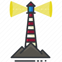 holiday, lighthouse, ocean, sea, travel icon