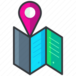 holiday, location, map, navigation, pointer, travel icon