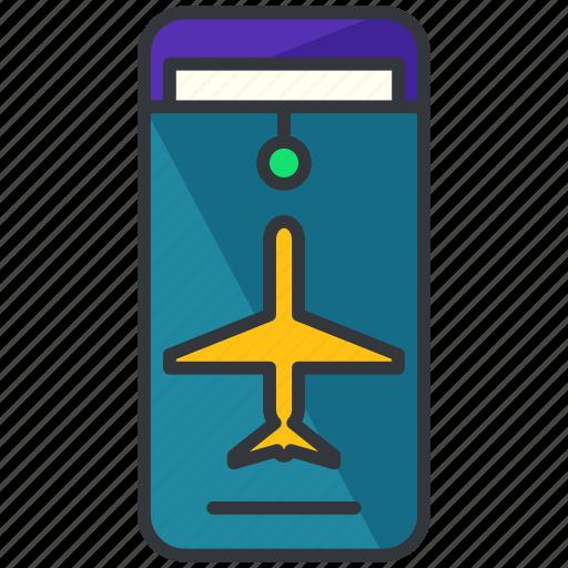aeroplane, airplane, holiday, plane, ticket, travel icon