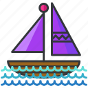 boat, holiday, sail, transportation, travel icon