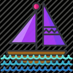 boat, holiday, sail, transportation, travel icon