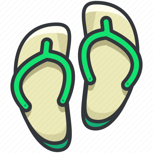 flip, flops, holiday, slippers, travel icon