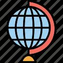 desk globe, desktop globe, globe, table globe icon