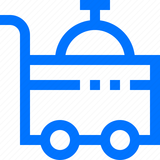 Cart, food, hotel, room, serve, service, travel icon - Download on Iconfinder