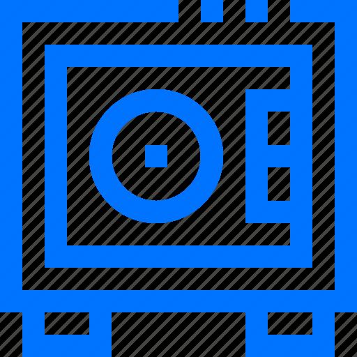 box, hotel, money, safe, travel icon