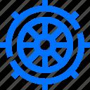 control, hotel, ship, travel, wheel icon
