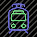 train, tram, railway, railway train
