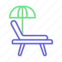 beach, deck chair, sun tanning, sunbathe, tanning