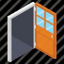 door, doorway, entrance, entryway, exit, hotel door icon