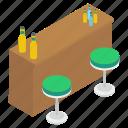 alcohol bar, bar counter, bar house, bar interior, bear bar, cocktail bar icon
