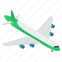 aeroplane, airbus, aircraft, airline, airplane, plane icon