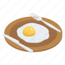 breakfast, egg, egg plate, food, fried egg, meal icon