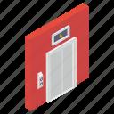 dumbwaiter, elevator, elevator door, escalators, lift, modern elevator icon