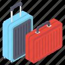 baggage, briefcase, luggage, suitcase, traveling bag, trolley bag icon