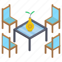 cafe table, dining table, lunchtime, patio, table setting icon