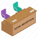 front desk, hotel reception, hotel service, reception, reception desk, restaurant reception