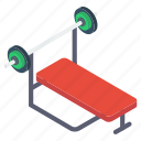 dumbbell desk, exercise desk, gym furniture, weightlifting bar, weightlifting desk icon