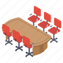 boardroom, conference room, meeting chamber, meeting room, meeting table icon