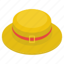 cowboy hat, floppy hat, hat, headgear, headwear, summer hat icon