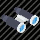 binocs, binoculars, field glasses, spyglass, telescope, vision icon