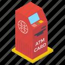 atm banking, atm machine, automatic teller machine, cash dispenser, cash machine icon